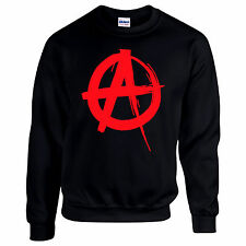 Anarchy Punk Political Disorder lawlessness society Riot Mens Sweatshirt