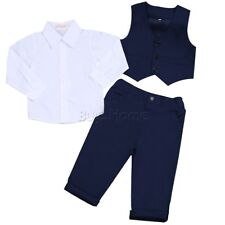 3pcs Toddler Newborn Baby Boys Gentleman T-shirt Tops+Pants Outfits Set Clothes