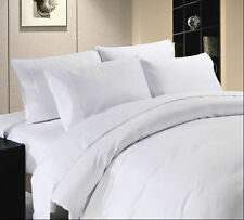 1000TC Egyptian Cotton White Solid Fitted Sheet/Bed Skirt/Flat Sheet/Pillow Case