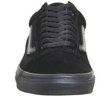 Mens Vans Old Skool Trainers BLACK MONO SUEDE Trainers Shoes
