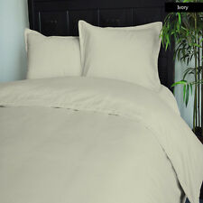 BRAND NEW 1000TC 100% COTTON IVORY SOLID BEDDING SETS CHOOSE DESIRED ITEM & SIZE