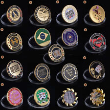 WR Metal Poker Guard Card Hand Protector Coin Gold Casino Chip Gift Many Designs