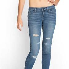 NEW WOMENS GUESS BRITTNEY MID RISE STUDDED SKINNY DESTROY REPAIRED JEANS