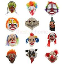 Scary Evil Clown Mask Bloody Mouth Joker Latex Mask Adult Halloween Costume