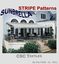 SUNBRELLA STRIPE FABRIC Per-YARD/L+ for Awnings/Shade 46W ~ S/H: ANY QTY!