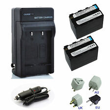 NP-F970 NP-F930 NP-F950 NP-F960 Battery / Charger For Sony NEX-FS700RH HXR-NX3