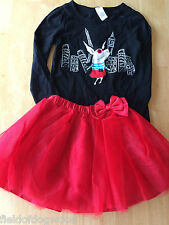NWT Gymboree Olivia Tee Shirt Top Tulle Tutu Skirt 2pc Set 10, 12 Girls