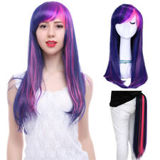 My Little Pony Twilight Sparkle Wig Tail Clip On Ponytail Purple Cosplay Wigs