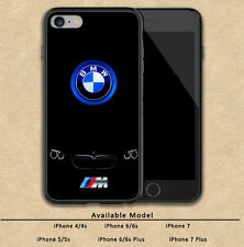 New BMW AMG Logo Cars Print Plastic Hard Case For iPhone 5 5s 6 6s 7 8 X (Plus)