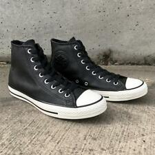 New Converse Chuck Taylor All Star Tumbled Leather High Top Black