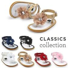Toddler Baby Kid Girls Flower Pearl Sandals Princess Vintage Walkers Party Shoes