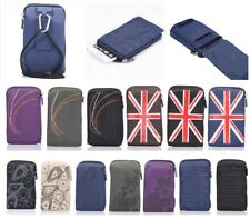 "Unisex 5.7"" Multi-functional Casual Sports Nylon Bag Phone Waist Pouch Case New"