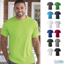 Hanes ComfortSoft Cotton T-Shirt Plain Blank Solid Short Sleeve Tees S-4XL 5280