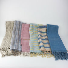 THAI CLOTH HANDICRAFT MUD DYED FABRICS SCARF SHAWL BANDANA WRAP HAND WOVEN