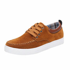 Men Casual boat Canvas Shoes Flat Loafer Lace Up Fashion Low-Top Board Sneakers