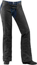Icon 2017 Womens One Thousand Hella 1000 Motorcycle Chaps - Black