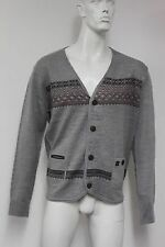 BNWT Mens Duck And Cover Aitken Light Grey Marl Cardigan, Large XL