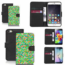 black pu leather wallet case cover for many Mobile phones - design ref zx1232
