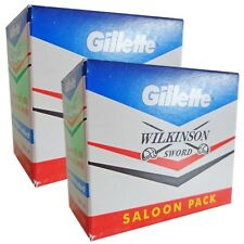 Gillette Wilkinson Sword Blades Stainless Steel Double Edge Safety Razor Blades