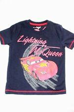 Boys Disney Pixar Cars T Shirt Lightning Mcqueen Top Navy Kids Clothing Age 2-5