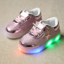 Kids Boys Girls Sports Shoes LED Light Up Luminous Sneakers Children Trainers