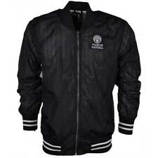 Franklin & Marshall 017AN Funnel Zip Black Perforated Nylon Jacket
