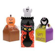 10pcs Halloween Paper Treat Boxes Trick Or Treat Party Gift Favor Loot Candy Box
