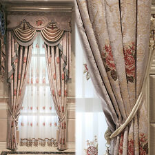 American Pastoral Thicker Upscale embroidered Chenille curtain valance 0810