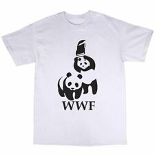 WWF Wrestling Panda Parody T-Shirt Cotton