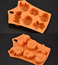 Pumpkin/Bat/Ghost/Skull Silicone Baking Pan Mold Ice Tray Halloween Cookie Molds