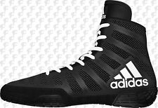Adidas Adizero Varner MEN'S Wrestling Shoes, Black-White-Black BA8020  NEW!