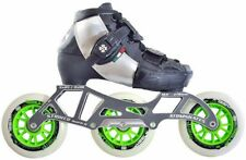 ATOM SKATES - LUIGINO KID'S Black CHALLENGE - 3 WHEEL INLINE SPEED SKATE PACKAGE