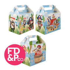 Pirate Treasure Jack Party Boxes Food Loot Lunch Cardboard Childrens Kids