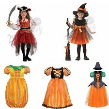 Girls Pirate Witch Pumpkin Fancy Dress Kids Halloween Party Childrens Costume