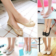 Hot Women Comfort Travel Slip On Casual Foldable Cap Toe Party Shoes Ballet Flat