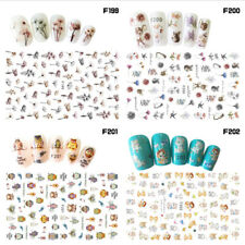 Multi-color 3D Nail Art Sticker Flower DIY Manicure Decal Decor Tips