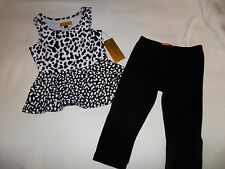 NWT-Nicole Miller Cheetah Print 2 Piece Outfit-Size 12 Months-0626-LRACK