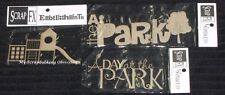 SCRAP FX Chipboard 'PARK/PLAYGROUND' Embellishments (Choose from 3 designs)