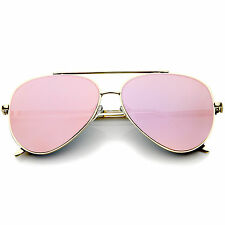 Lensiz Mirrored Aviator Women's Sunglasses,  Retro Fashion, Rimless Metal Flame
