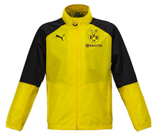 Puma Men BVB Dortmund Rain Jackets Yellow Running L/S Soccer Jacket 751786-01