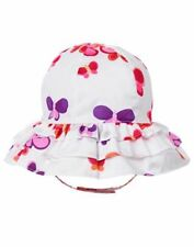NWT Gymboree Sunset Glow Butterfly Sunhat Chin strap 6 12M Toddler Girl Baby