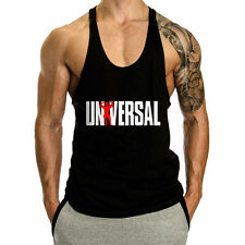 Men's Workout T-Shirt Tank Top Bodybuilding Gym Muscle Fitness Stringer Tee