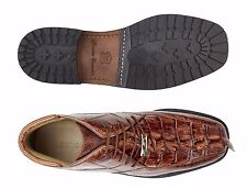 Mens Shoes Belvedere Boot Barone Brown Genuine Hornback and Genuine Ostrich 491