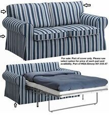 Parts of IKEA EKTORP Sofabed Abyn Blue White Slipcover New part of 801.930.47