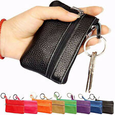 Women Lady Leather Keychain Case Wallet Coin Purse Clutch Wallet Card Holder Zip