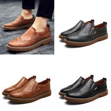 Retro Style Brogue Carved Dress Formal Mens Fashion Pull On Loafers Shoes New