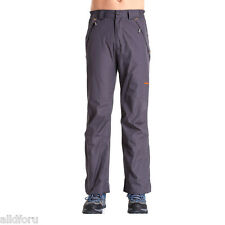 New Mens Insulated Fleece Lined Rain Snow Pants Slim Windproof Waterproof Pants