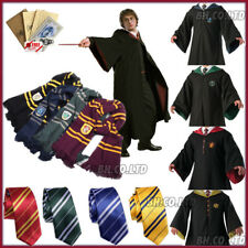 Adults/Kids Harry Potter Cosplay Costumes Gryffindor Robe Cape Tie Scarf +Letter
