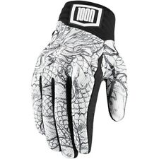Icon 1000 Luckytime Battlehide Leather/Mesh Street Mens Motorcycle Gloves