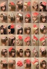 CORAL NUDE FASCINATOR NATURAL SKIN, WEDDING,RACES PROM, ASCOT, OCCASION - LOT